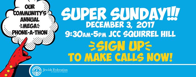 Super Sunday | December 3, 2017 | Squirrel Hill JCC