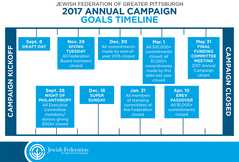 2017 Annual Campaign Goals Timeline