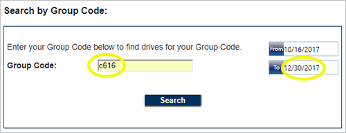 Search by Group Code