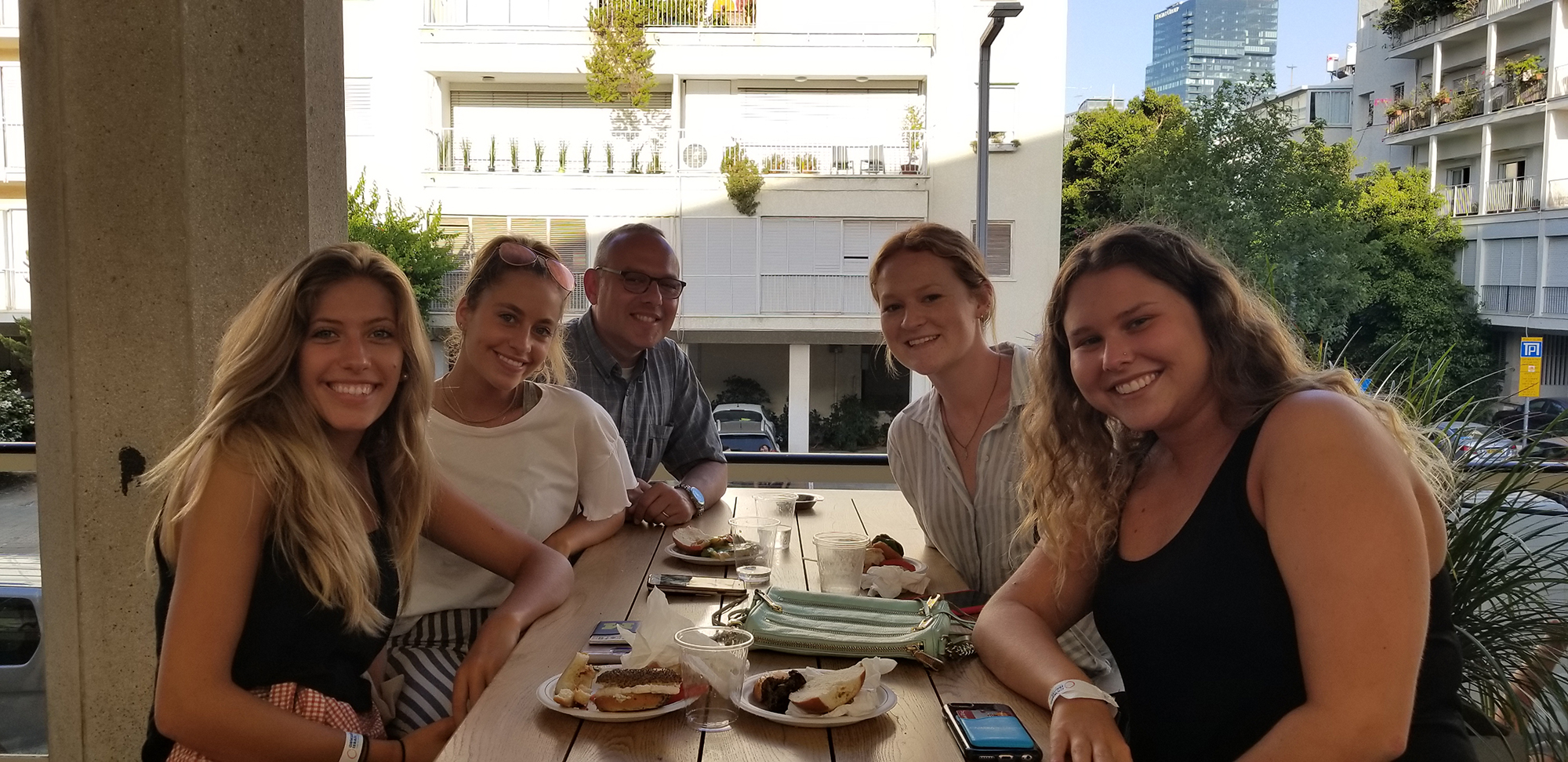 Jeff Finkelstein with Onward Israel participants in Israel - July 2018